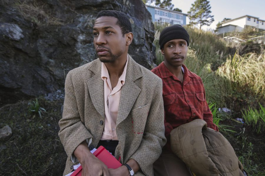LBMISF_01758_R Jonathan Majors stars as Montgomery Allen and Jimmie Fails as Jimmie Fails in THE LAST BLACK MAN IN SAN FRANCISCO, an A24 release. Credit: Peter Prato / A24